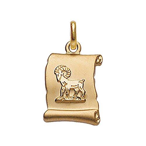 helios bijoux pendentif parchemin m daille signe astrologique zodiaque b lier plaqu or. Black Bedroom Furniture Sets. Home Design Ideas