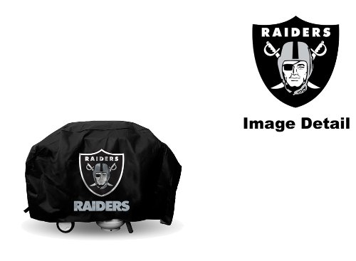 Oakland Raiders NFL Team Logo Game Day Chef Food BBQ Barbeque Grill Cover (Bbq Cover Raiders compare prices)