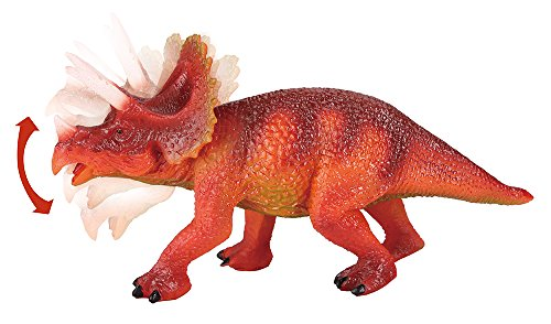 Triceratops Action Figure - Includes Real Dinosaur Bone Fossil!
