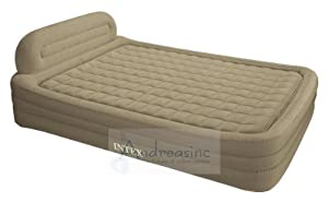 intex deluxe queen size frame bed air mattress home kitchen. Black Bedroom Furniture Sets. Home Design Ideas