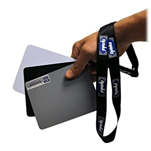 Opteka Medium 12.5cm X 10cm Color & White Balance Reference Grey Card Set With Quick-Release Neck Strap for Digital Photography