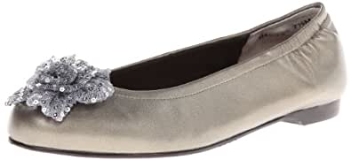 Ros Hommerson Women's Naughty Flat,Pewter,6 M US