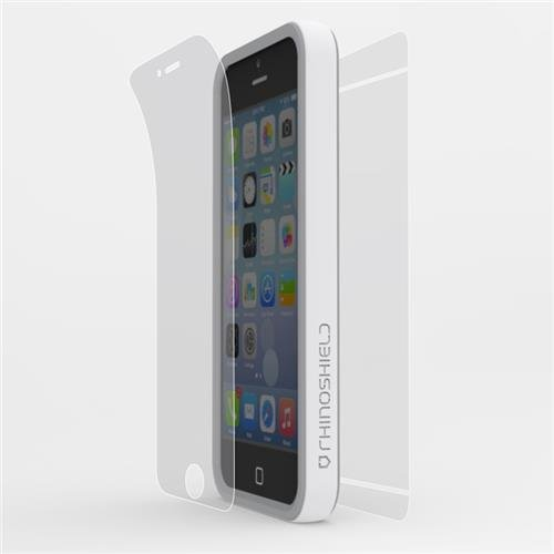 Rhino Shield Crash Guard Slim Impact Bumper Bundle for iPhone 5/5s/SE - White (includes: Bumper, Front Screen Protector, Rear scratch Protector Shield) (Rhino Shield Bumper Iphone 5s compare prices)
