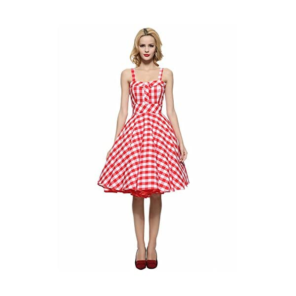 3e47bc21868 Maggie Tang Women s 1950s Vintage Rockabilly Full Circle Swing Party Dress
