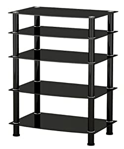 Cheap  Glass TV Media Entertainment Unit HiFi or TV Stand 42″
