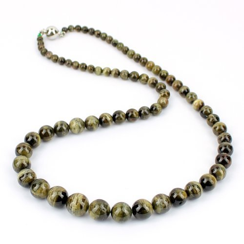 O-stone Natural 3A Green Tourmaline Paradise Necklace Famly Beads Collection with Cat Eye Effect Bracelet 4mm-11mm Bracelet Grounding Stone Protection Very Precious Gemstone