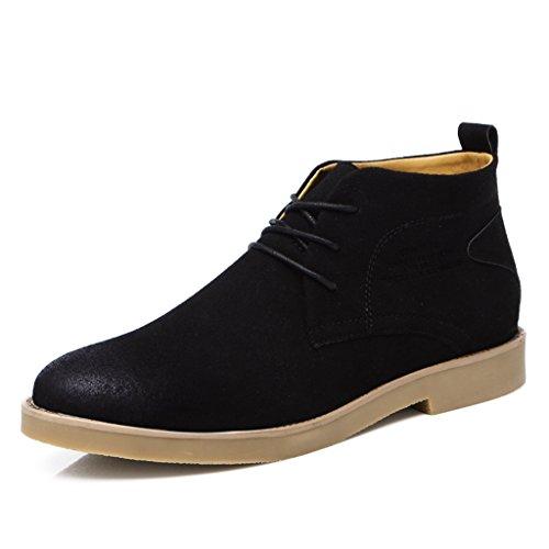 SITAILE Uomo Classic il comfort di moda Stivali Oxford stringata Scarpe stringate Desert Boot