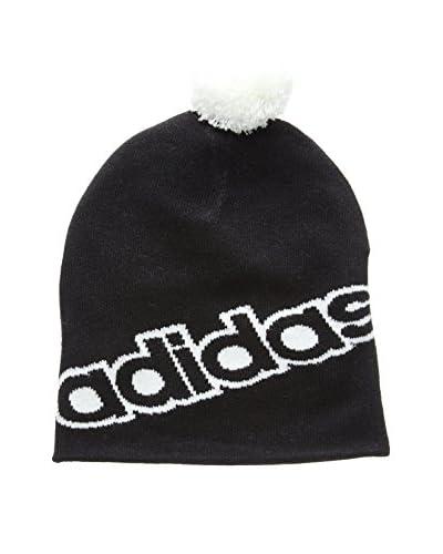 adidas Mütze Performance Linear Pompom schwarz/weiß