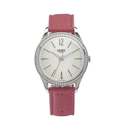 Henry London-Bracciale unisex orologio Hammersmith da al quarzo in pelle HL39SS 0063