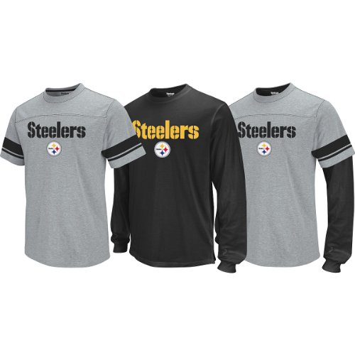Reebok Pittsburgh Steelers Boys (4-7) 3 in1 Option T-Shirt Kids 7 Large