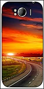 Snoogg The Way To Sunset Designer Protective Back Case Cover For HTC Sensation Xl