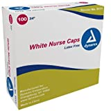 Medline O.r. Nurse's Cap White Elastic Headband (Case of 500)