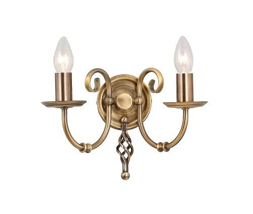 Elstead Artisan ART2 AB Traditional Wall Lights Double