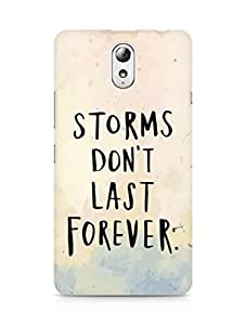 AMEZ storms dont last forever Back Cover For Lenovo Vibe P1M