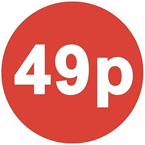 Audioprint Lot. 2000Lot de Prix 49P autocollants 30mm rouge
