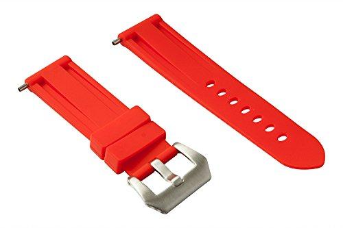 24mm Cinturino in gomma (Panerai...) (Rosso)