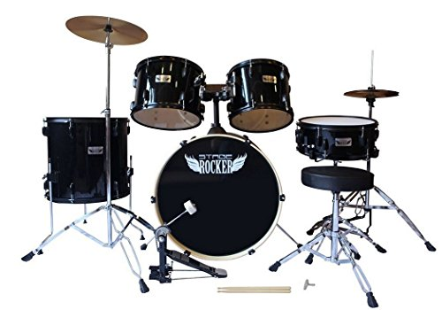 stage-rocker-5pc-drum-set-with-double-braced-hardware-cymbals-stool-and-sticks-included-black