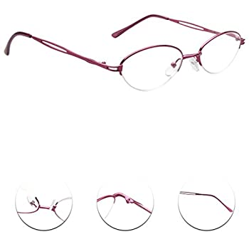 LianSan womens designer compact vintage fashion reading glasses with case prime multi pack 1.0 1.25 1 .5 1.75 2 00 2.25 2.50 2.75 3.0 3.25 3.5 4.0 L731 (+1.00)