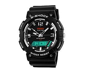 led digital grey wristwatch mens sport watches