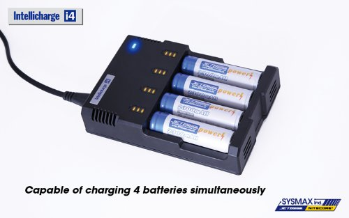 Purchase JETBeam IntelliCharger i4 Charger - 2nd Generation - for charging 18650, 16340(RCR123), 145...