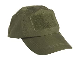 CASQUETTE TACTIQUE TYPE BASEBALL VERT OLIVE REGLABLE PERSONNALISABLE MILTEC 12319001 AIRSOFT