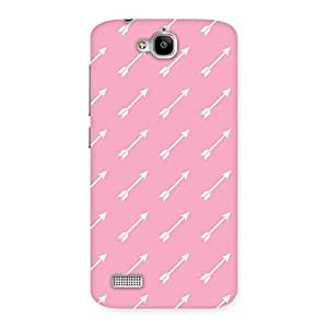 Enticing Pink And Arrow Multicolor Back Case Cover for Honor Holly
