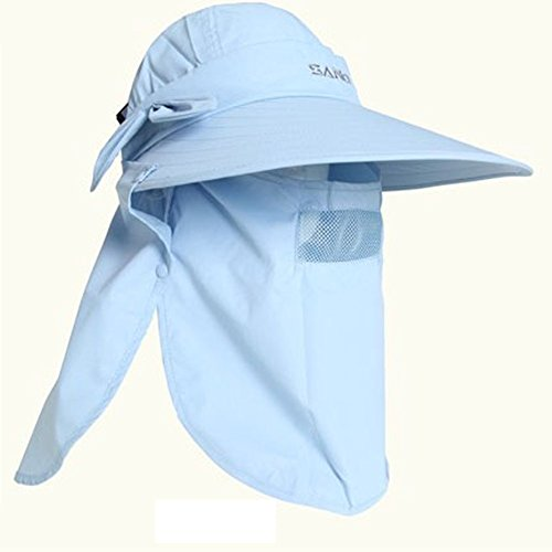 a352fa67b4aed Jiang Bo Summer Womens Mens Sun Protection Windproof Fishing Cap Neck Face  Mask Flap Hat Jb007 (Light Blue) - Buy Online in Oman.