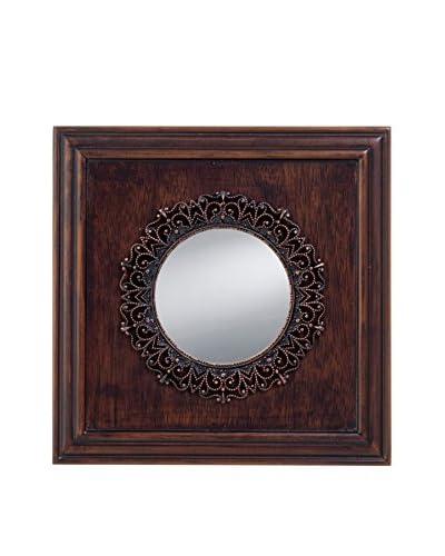 Prinz Marquis Mirror, Walnut/Antique Copper