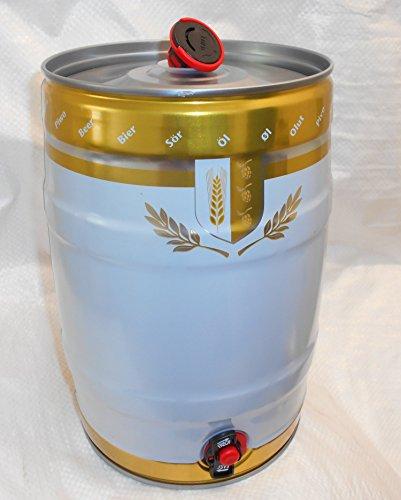 5-litros-Party-Barril-de-metal-con-grifo-y-Combi-Tapn-Color-BlancoOro