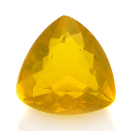 Natural Yellow Fire Opal Loose Gemstone Trillion Cut 8mm 1.40cts VVS Grade Gem