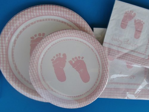 Baby Girl Shower Plates Napkin Set