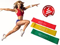 BodyTone Exercise Loop Bands with Free Video Tutorial - Best Resistance Bands for Men and Women - Legs, Arms, Chest, Shoulders and Abs - Recommended for Rehab and Physical Therapy - Ideal for Yoga, Pilates, Insanity, PX90 - Elastic Bands For Effectively Toning Your Body - Heavy Stretch Bands Set For Home Gym - 100% Natural Latex - Protect Your Investment With No Risk - Lifetime Guarantee