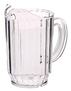 Update International WP-32SC SAN Plastic Water Pitcher, Clear, 6-3 4-Inch, 32-Ounce by Update International