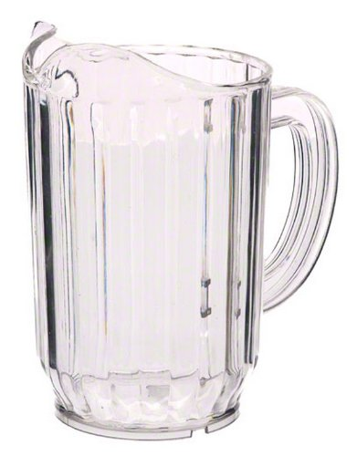 Update International WP-32SC SAN Plastic Water Pitcher, Clear, 6-3/4-Inch, 32-Ounce