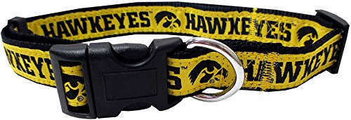 Pets First Collegiate University of Iowa Hawkeyes Pet Collar, Medium