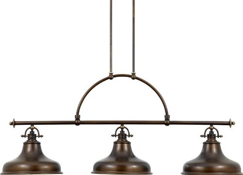 B001Q1DWD4 Quoizel ER353PN Emery 73-Inch Island Chandelier with 3-Lights, Palladian Bronze