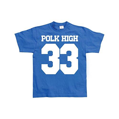 Licensed Merchandise Funny POLK HIGH 33 Men T Shirt (Blue), XX-Large