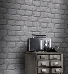 Rasch Brick Wallpaper - Light Grey by New A-Brend
