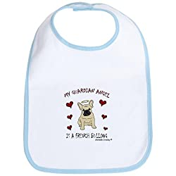 french bulldog Bib by CafePress - Sky Blue