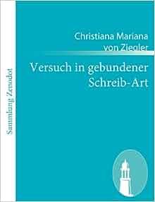 German Edition) (9783843063883): Christiana Mariana Von Ziegler: Books