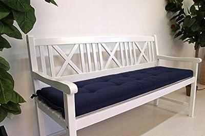 Bankauflage 180cm blau Sitzpolster Bankkissen mit Schlaufe von Sedex auf Gartenmöbel von Du und Dein Garten