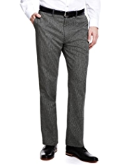 Autograph Houndstooth Print Slim Fit Trousers