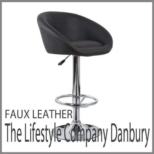Venus Black Faux Leather Bar Stools
