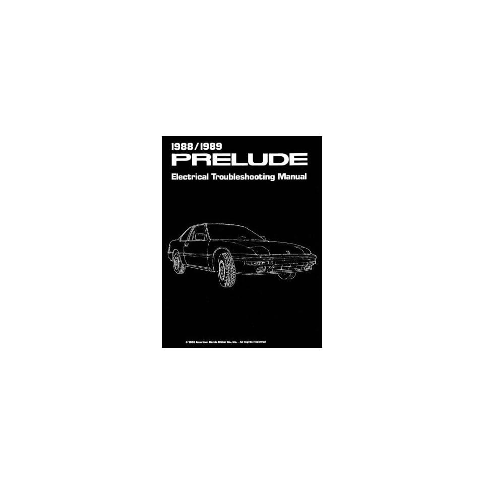 1988 HONDA PRELUDE Shop Service Repair Manual Book
