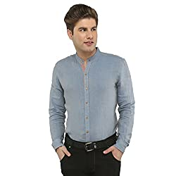 Attila Men's Casual Shirt (2206495605_Blue_42)