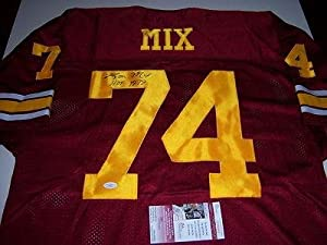Ron Mix Signed Jersey - Usc Trojans chargers hof Jsa coa - Autographed NFL Jerseys by Sports+Memorabilia