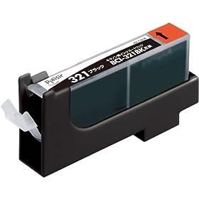 【クリックで詳細表示】プレジール 汎用インクカートリッジ CANON BCI-321BK対応 ブラック PLE-C321B: パソコン・周辺機器