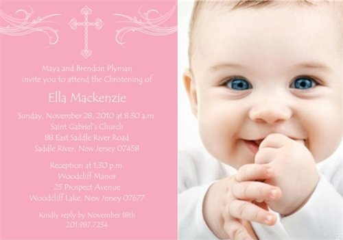 Baptism Invitations Photo front-275592
