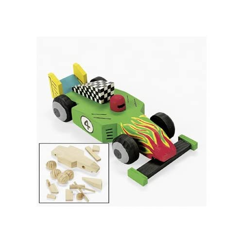 Design Your Own Unfinished Wood Race Car Kit