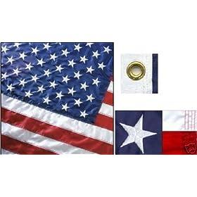 PREMIUM Perma-Nyl Nylon American Flag - 3x5'. Made in the USA
